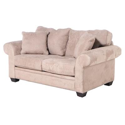 Jonathan Louis Inc. Upholstered Roll-Arm Loveseat