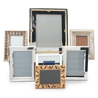 Silver Tone Metal and Gilt Wood Picture Frames