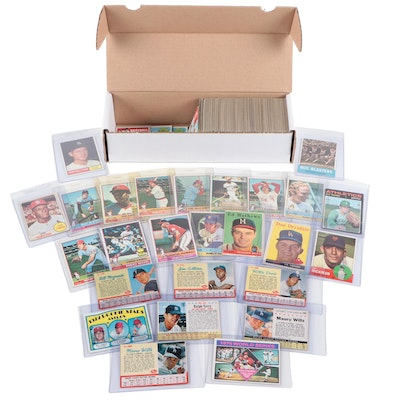 1950s-1970s Topps and Post Baseball Cards with Stars and Hall of Fame Players