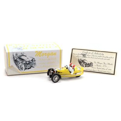 Hand-Built and Painted Morgan 1938 Racing Beetleback Model Car