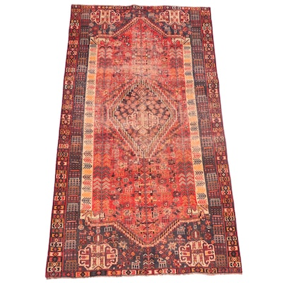 4'6 x 8'2 Hand-Knotted Persian Qashqai Area Rug