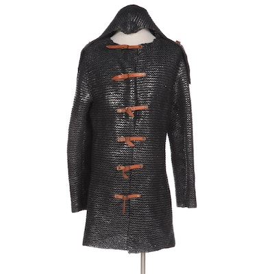 Reenactment Medieval Chainmail Style Knit Hauberk and Coif