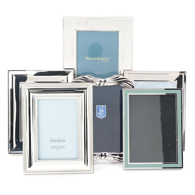Lunt, Reed & Barton and Waterford Silver Plate Picture Frames with Other Frames