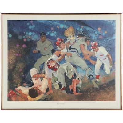 """Clint Orlemann Offset Lithograph """"Rose to the Occasion,"""" Late 20th Century"""