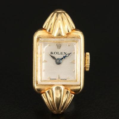 Rolex 18K Stem Wind Wristwatch
