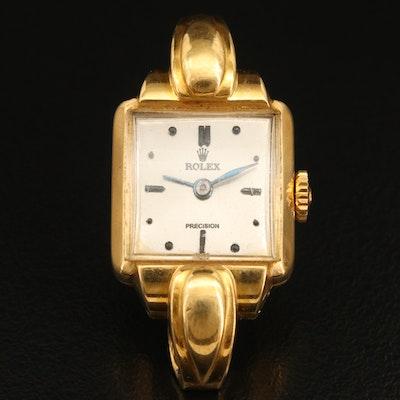 Rolex Vintage 18K Stem Wind Wristwatch