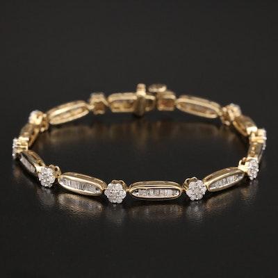 14K 2.10 CTW Diamond Bracelet