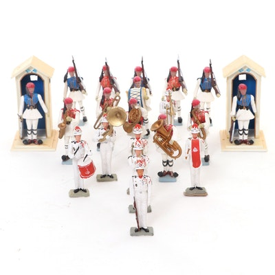 Aohna Greek and Other Toy Soldier Marching Band, Vintage