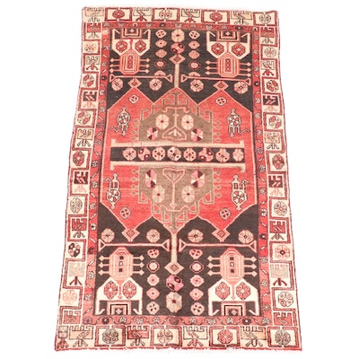 3'10 x 7' Hand-Knotted Persian Shahsavan Area Rug