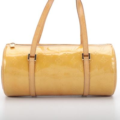 Louis Vuitton Bedford Handbag in Monogram Vernis and Vachetta Leather