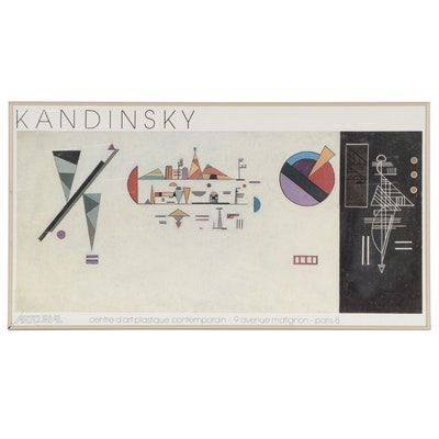 Offset Lithograph Exhibition Poster After Wassily Kandinsky, 1984