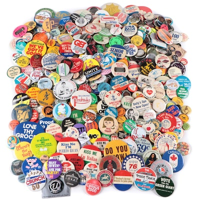 Political, Humorous, and Other Pinbacks, Late 20th Century