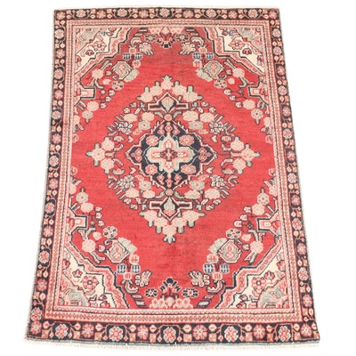 4'2 x 6'4 Hand-Knotted Northwest Persian Area Rug
