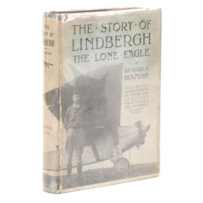 """Illustrated """"The Story of Lindbergh"""" by Richard J. Beamish, 1927"""