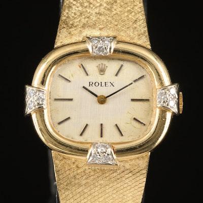 Rolex 14K Gold and Diamond Wristwatch