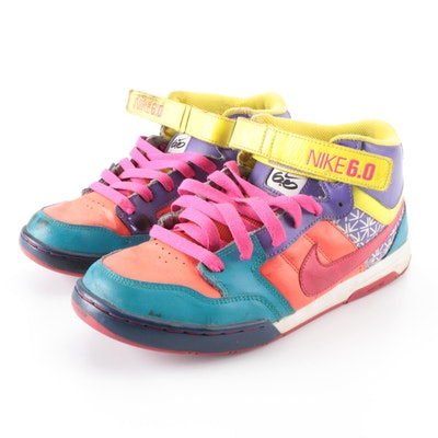 Nike 6.0 Mid Top Sneakers in NikeID Customized Multicolor Leather