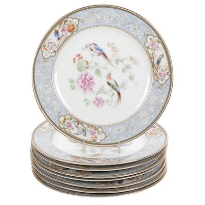 "Eight Royal Bavarian Hutschenreuther Selb Bavaria ""Bird of Paradise"" Plates"