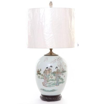 Japanese Ginger Jar Table Lamp