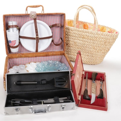 Picnic Supplies, Deviled Egg Platters, Grill Tools, and Flatware