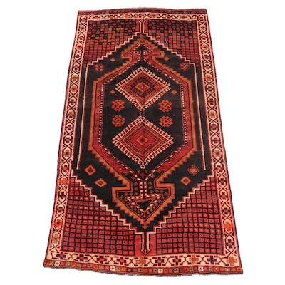 4'9 x 9'1 Hand-Knotted Persian Qashqai Area Rug