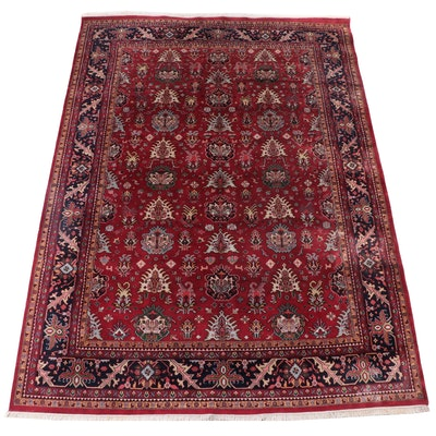 """10'2 x 14'1 Hand-Knotted Indo-Persian """"Kashan"""" Room Sized Rug"""