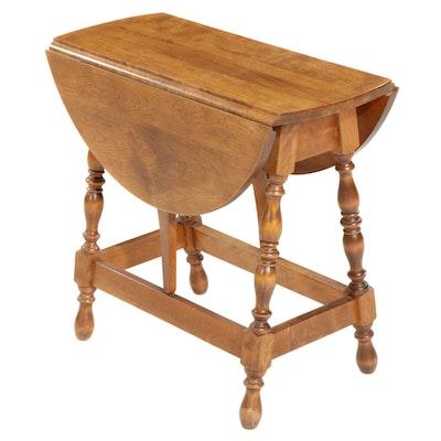 Hartshorn Chestnut Drop Leaf Side Table, Late 20th Century