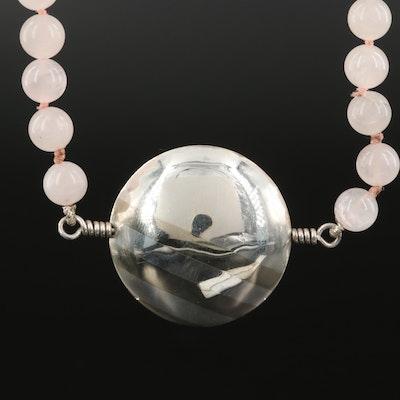 Sterling Rose Quartz Endless Necklace