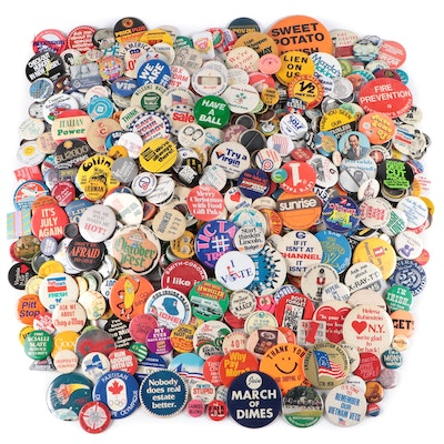 Political, Advertising, and Other Pinbacks, Late 20th Century