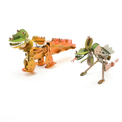 Limited Edition Tucher & Walther Dinosaur and Dragon Wind-Up Toys