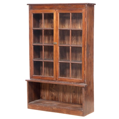 Primitive Style Walnut Bookcase, Early to Mid-20th Century
