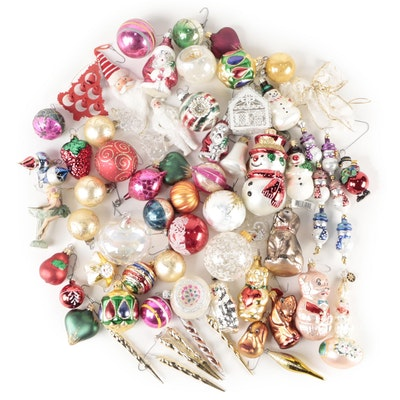 Christopher Radko, Shiny Brite and Other Blown Glass Christmas Ornaments