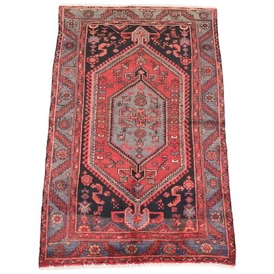 4' x 6'8 Hand-Knotted Persian Tuyserkan Area Rug