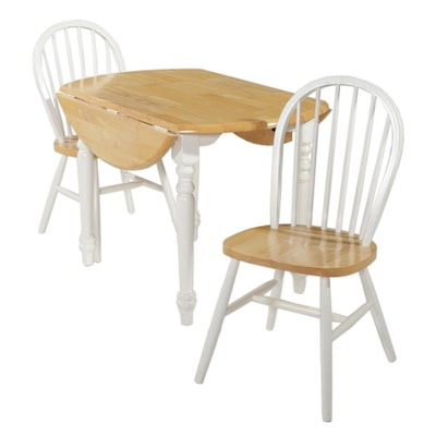 A-America Drop Leaf Dinette Table with Two Spindle-Back Chairs