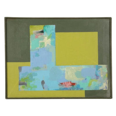Bevlyn Simson Abstract Acrylic Painting, Late 20th Century