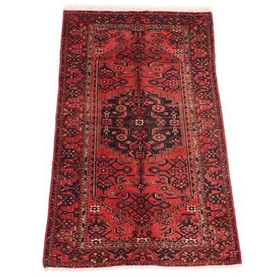 4'1 x 7'4 Hand-Knotted Persian Zanjan Area Rug