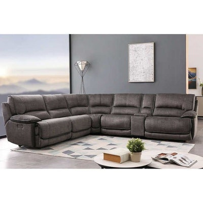 Cheers Six-Piece Fabric Reclining Sectional