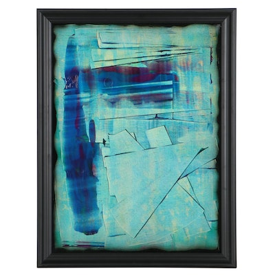 """Jason Michael Durham Abstract Mixed Media Painting """"Oblivious"""""""
