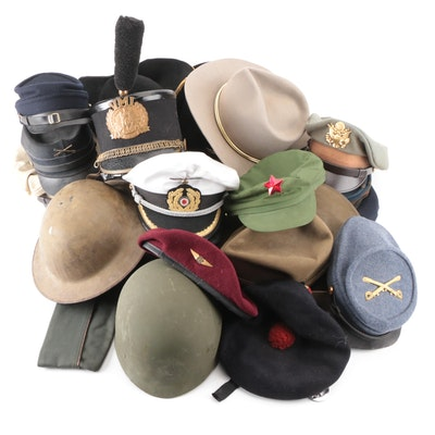 Military Style Hats, Helmets, and Caps