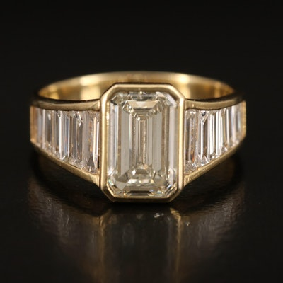 Edel Design Platinum 3.43 CTW Diamond Ring