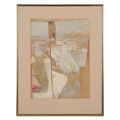"Viki Blinn Mixed Media Painting ""Collage XIII,"" Circa 2000"