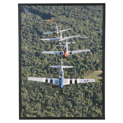 Giclée of an Airplane Show, 21st Century