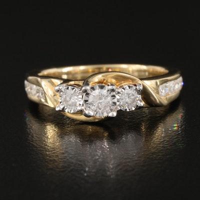 10K 0.50 CTW Diamond Ring