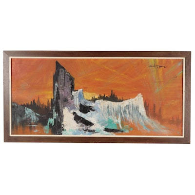 Abstract Landscape Oil Painting, 1965