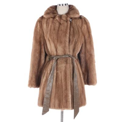 Brandenbur Furs Belted Pastel Mink Coat