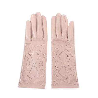 Hermès Gloves in Perforated Lambskin Leather