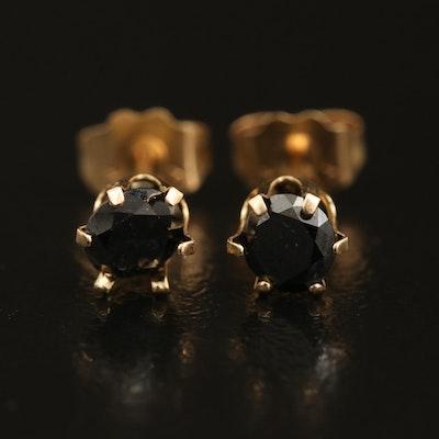 14K 0.52 CTW Black Diamond Stud Earrings