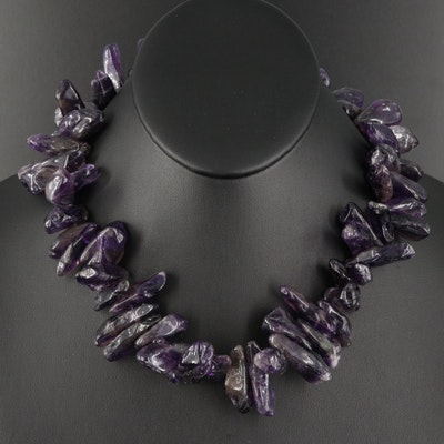 Amethyst Polished Nugget Necklace