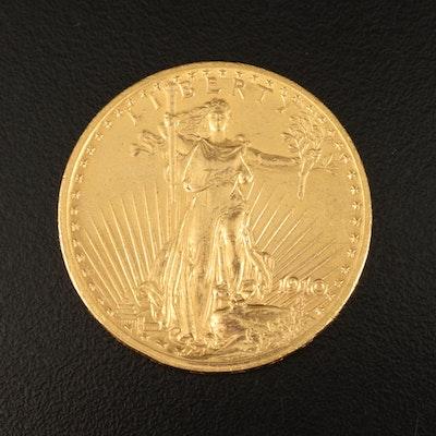 1910 $20 Saint-Gaudens Double Eagle Gold Coin