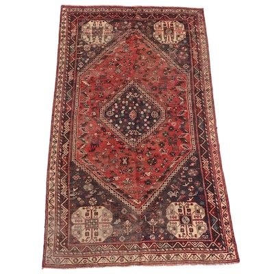 4'5 x 7'10 Hand-Knotted Persian Qashqai Area Rug