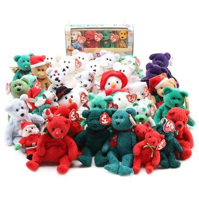 Ty Halo, Wallace and Other Holiday Themed Beanie Babies